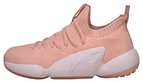Li Ning Culture Street Shoes - Zapatillas de bádminton para mujer, color rosa y blanco, color...