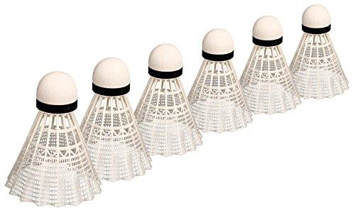 Avento–Cork Badminton Volantes en el depósito, Color Blanco/Negro, Talla única