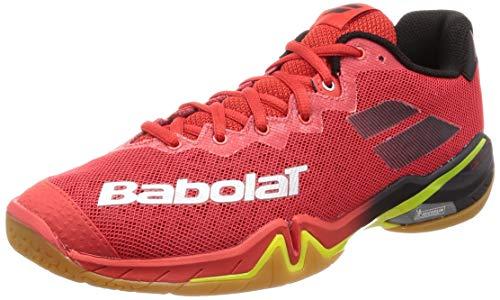 BABOLAT Shadow Tour Men, Zapatillas de Badminton Hombre, Rouge, 46 EU