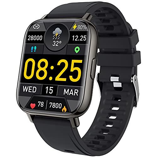 Smartwatch, 1.69'' Reloj Inteligente Mujer Hombre, Impermeable IP68 Pulsera Actividad Inteligente...