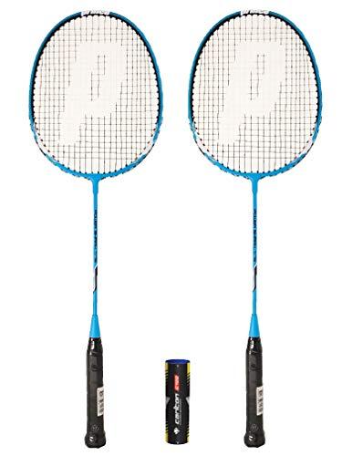 Prince 2 x Power Ti 75 Badminton Raqueta + 6 Volantes (Varias Opciones) (Shark)