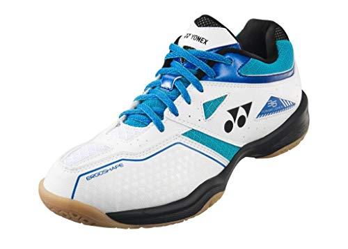 YONEX SHB Power Cushion 36 - Zapatillas de bádminton, color blanco y azul, color Blanco, talla 44...