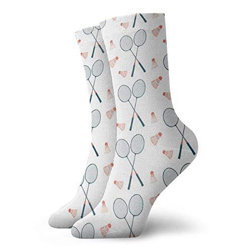 Calcetines de regalo de Navidad Juguemos al bádminton - Ilustración dulce en azul & Calcetines...