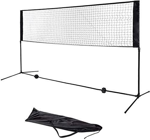 FOBUY Tenis Bádminton Red Ajustable Plegable Estándar Internacional Grande, Negro (4)