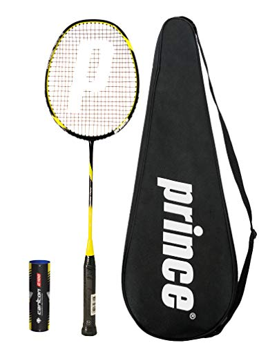 Prince Pro Nano Ti 75 Graphite Badminton Raqueta + 6 Volantes (Varias Opciones) (Rebel)