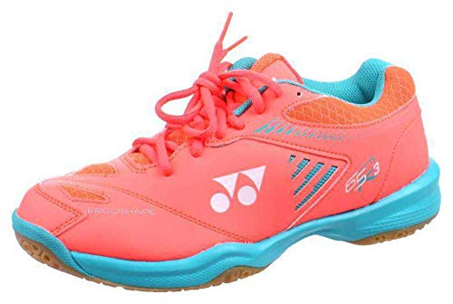 Yonex - Zapatillas de bádminton SHB 65R3 para mujer, color coral, naranja, 40 m