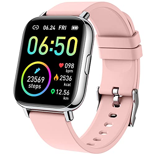 Smartwatch, 1.69' Reloj Inteligente Mujer Impermeable IP68 Pulsera Actividad 24 Modos Deporte con...