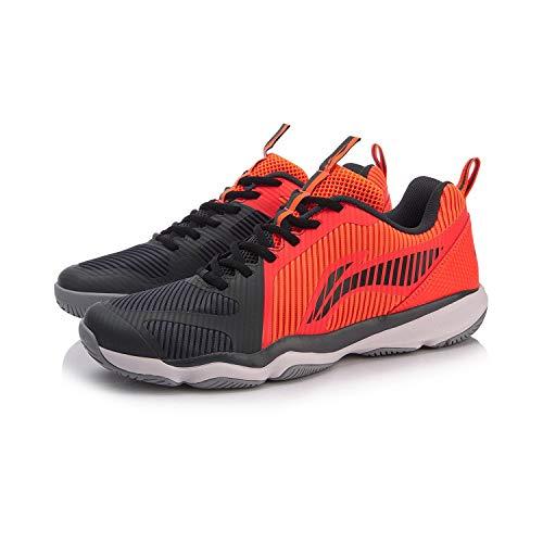 Li Ning AYTN053-4 Ranger TD - Zapatillas de bádminton para hombre, color rojo y negro, color Rojo,...