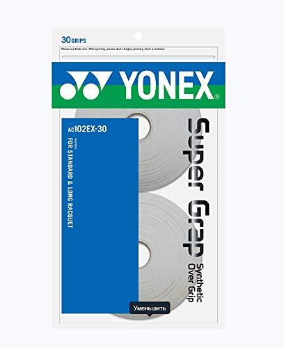 YONEX - Grip para Raqueta de Tenis (Pack de 30 Grips), Color Blanco