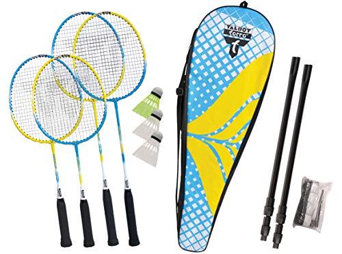 Talbot Torro Set de Badminton Family, Juego Completo Junior de 53 cm, 2 Raquetas Estándar, 3...