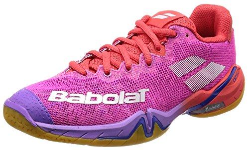 Babolat Shadow Tour 2019 31S1802-299 - Zapatillas de bádminton, color rojo, rosa y morado, color...