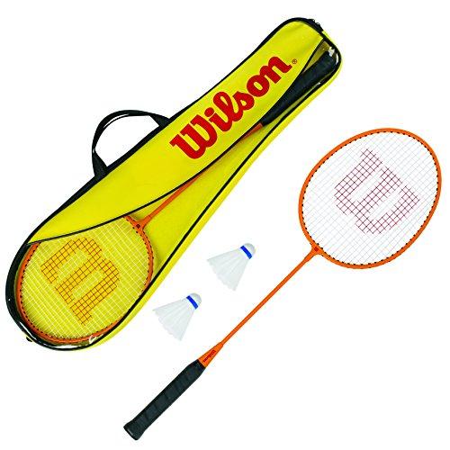 Wilson Gear Kit Set Incluye 2 Raquetas de bádminton, 2 Volantes de plástico y 1 Bolsa de...