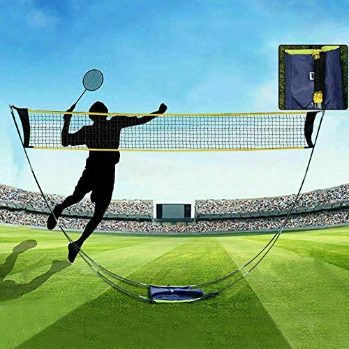hook.s Portátil al Aire Libre Plegable Ligero Bádminton Tenis Volante de Red Set para Deportes de...