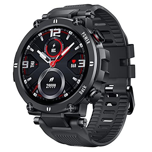 CatShin Smartwatch Hombre Mujer Reloj Inteligente con Pulsómetro, Presión Arterial, Podómetro...