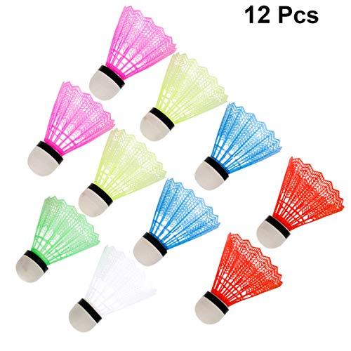 VORCOOL Badminton Volants,12Pcs Volante de Nylon de Alta Velocidad con Gran Estabilidad y...