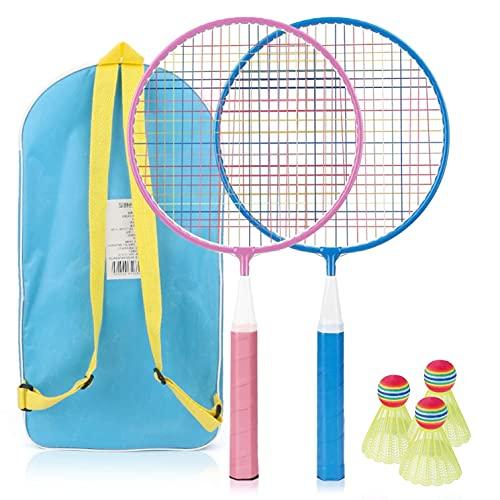 TK Gruppe Timo Klingler Juego de raquetas de bádminton para niños con volantes, incluye 3...