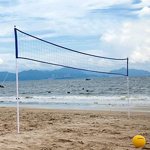 Red de Voleibol portátil al Aire Libre Red de Tenis de bádminton de Voleibol Ajustable Plegable...