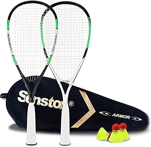 Senston Raqueta de Badminton, Juego de Raquetas de bádminton Multiusos para Playa, Parque o...
