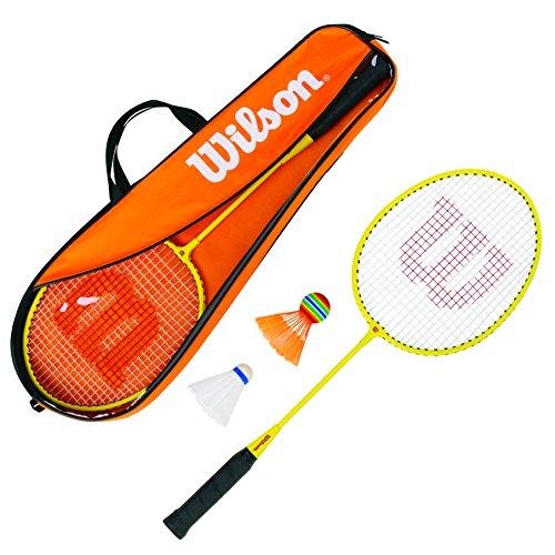 Wilson Junior Kit Set Incluye 2 Raquetas de bádminton, 2 Volantes de plástico y 1 Bolsa de...
