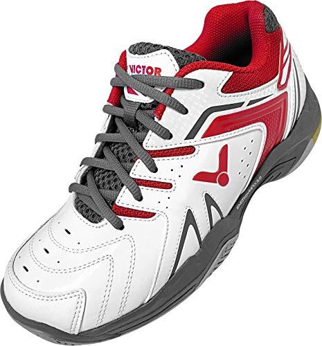 VICTOR schuh/A610II white/red-47, Zapatillas de Bádminton Unisex Adulto, Color Rojo Blanco, 47 EU